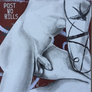 Untitled #3 Male Nude Post No Bills. #CSN16011 https://www.dirtylittledrawings.com/products/untitled-3-male-nude-post-no-bills